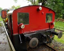 Free Red Locomotive Stock Image - 5787521