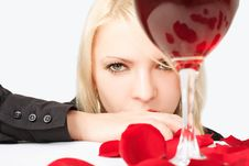 Free Lady With Wine Stock Images - 5787934