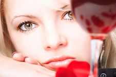 Free Lady With Wine Stock Photos - 5788183