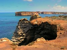 Cliffs At Great Ocean Road Royalty Free Stock Image