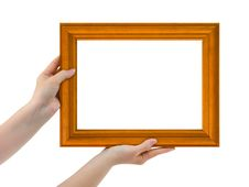 Free Frame In Hands Stock Image - 5789451