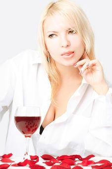Free Lady With Wine Stock Photos - 5789483