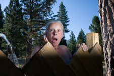 Free Senior Woman In Shower Stock Photo - 5789500