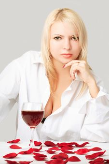 Free Lady With Wine Stock Images - 5789654