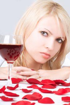 Free Lady With Wine Stock Photos - 5789903