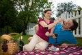 Free Couple On A Picnic Joking-Horizontal Stock Photos - 5791943