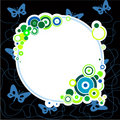 Free Blue Butterflies And Circles Royalty Free Stock Photography - 5795947