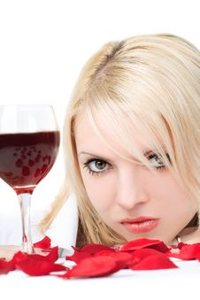 Free Lady With Wine Royalty Free Stock Images - 5790069