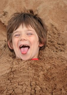 Free Buried Boy Royalty Free Stock Photos - 5790298
