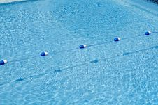 Free Pool Divided By Buoy Rope Royalty Free Stock Photos - 5790568