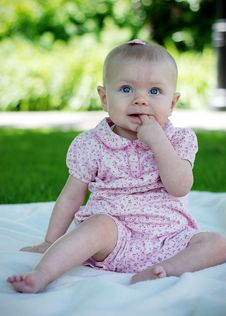 Free Baby Biting Finger - Vertical Stock Photos - 5791433