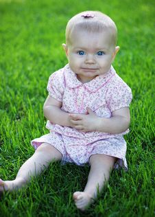 Free Baby In Grass - Vertical Stock Photos - 5791493