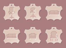 Free Leather Furniture Icon Set Stock Image - 5791801