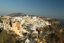 Free Santorini Hilltop Village Stock Photos - 5791893