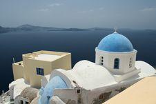 Free Beautiful Dome Church In Santorini Stock Image - 5791921