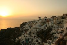Free Oia Sunset Stock Images - 5792004