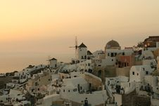 Free Sunset Over Greek Village Stock Photography - 5792012