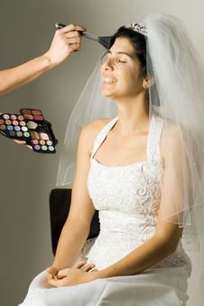 Free Soon-to-be Wife Getting Make-up Done - Vertical Stock Images - 5792134