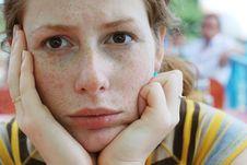 Free Thinking Girl Stock Image - 5792191