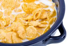 Free Bowl Of Cornflakes With Milk Royalty Free Stock Images - 5792259