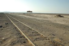 Free Railway In Desert, Chile Stock Images - 5792484