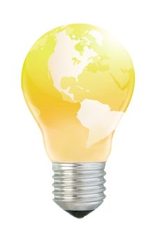 Free Golden America In Lightbulb Stock Image - 5792561