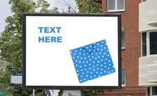 Free Blank Billboard In City With Shopping Bag Stock Photography - 5793642