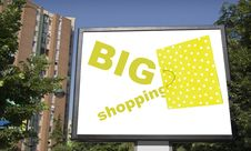 Free Blank Billboard In City With Shopping Bag Royalty Free Stock Photo - 5793735
