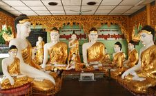 Free Buddha In A Temple Of The Shwedagon Complex Stock Photography - 5793762