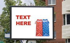 Free Blank Billboard In City With Shopping Bag Royalty Free Stock Image - 5793766