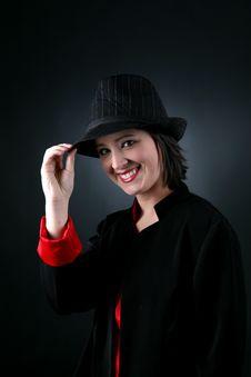 Free Happy Teen In Top Hat Stock Image - 5793881