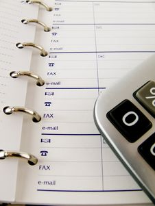 Free Calculator And Notepad Royalty Free Stock Photography - 5793907