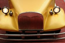 The Head Of The Antiqued Car Stock Images