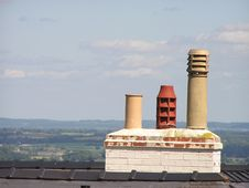 Three Chimney Pots Royalty Free Stock Photo