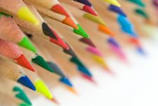 Free Crayons Laying One On Another Royalty Free Stock Image - 5795166