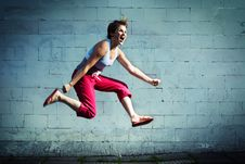 Free Jump. Royalty Free Stock Images - 5795389