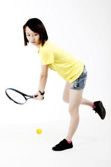 Free Tennis Girl Stock Image - 5795731