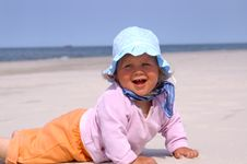 Free Baby On Beach Royalty Free Stock Images - 5795739