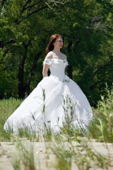 Free Bride On The Walk Stock Photo - 5796050