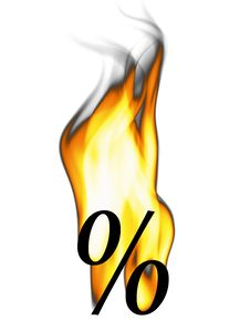 Free Fiery Percent Sign Stock Photography - 5796132