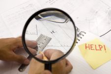 Magnifier And Notebook Royalty Free Stock Photo