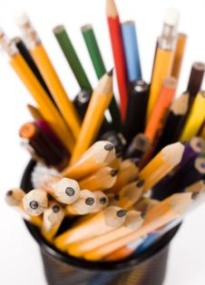 Free Pencils In Holder Royalty Free Stock Photos - 5797118