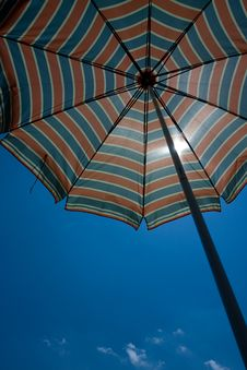 Free Beach Umbrella And Sky Stock Image - 5797211