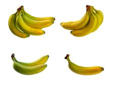 Banana  Included Clipping Path Royalty Free Stock Image