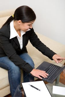 Free Woman With Laptop Stock Image - 5797871