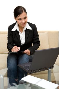 Free Woman With Laptop Royalty Free Stock Photography - 5798007