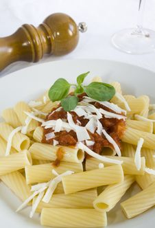 Free Rigatoni With Tomato Sauce Stock Photos - 5798243