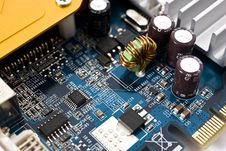 Free Chips On Motherboard Stock Image - 5798611