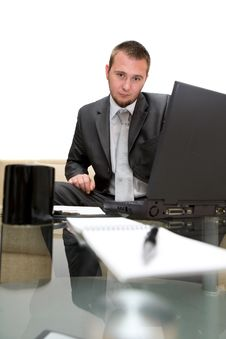 Free Man With Laptop Stock Photo - 5798720
