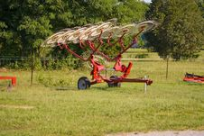 A Small Hay Rake For Sale Stock Image